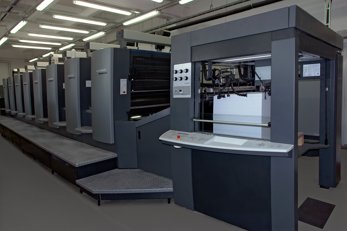 Sheet-fed offset printing machines